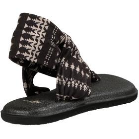 Sanük W's Yoga Sling 2 Prints Sandals Black/Natural Koa Tribal